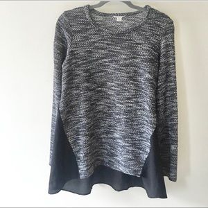 Lucky Brand knit & sheer flowy top.